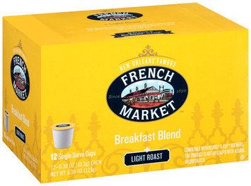 French Market™ Light Roast Breakfast Blend Coffee Single Serve Cups 12 ct Box