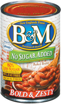 B&M Bold & Zesty No Sugar Added Baked Beans 16 Oz Can