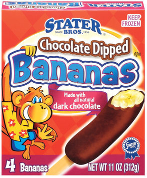 Stater Bros. Chocolate Dipped 4 Ct Bananas 11 Oz Box