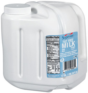 Superior Fat Free Milk .5 Gal Jug