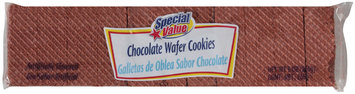 Special Value Chocolate Wafer Cookies 9 Oz Package