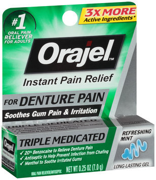 Orajel™ Refreshing Mint Denture Pain Oral Pain Reliever Gel