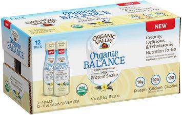 Organic Valley® Organic Balance Vanilla Bean Milk Protein Shake 12-11 oz. Bottles