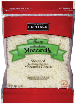 American Heritage® Fancy Shredded Low-Moisture Part-Skim Mozzarella Cheese  8 oz.