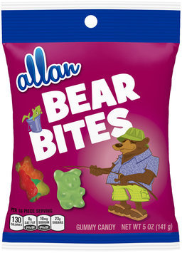 Allan Bear Bites Gummy Candy 5 oz. Bag