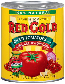 Red Gold® Diced Tomatoes with Basil, Garlic & Oregano 28 oz. Can