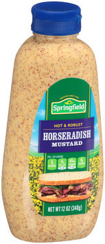 Springfield Horseradish Mustard 12 oz. Plastic Bottle