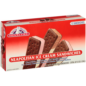 Polar Treats® Neapolitan Ice Cream Sandwiches 12-3.5 fl. oz. Sandwiches