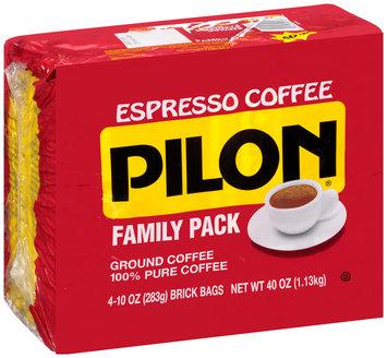 Cafe Pilon® Espresso Ground Coffee Family Pack 4-10 oz. Brick Bags