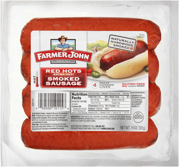 Farmer John® Red Hots Extra Hot Smoked Sausage 14 oz. Pack