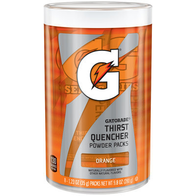Gatorade® Orange Thirst Quencher Powder Packs 8-9.8 oz. Canisters