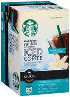 Starbucks® Sweetened Vanilla Iced Coffee K-Cup® 10 ct Box