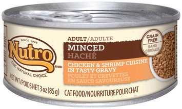Nutro® Adult Minced Chicken & Shrimp Cuisine in Tasty Gravy Adult Cat Food 3 oz. Can