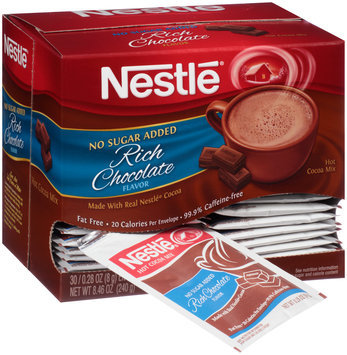 Nestlé No Sugar Added Fat Free Rich Chocolate Hot Cocoa Mix 3 Envelopes