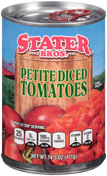 Stater Bros.® Petite Diced Tomatoes 14.5 oz. Can