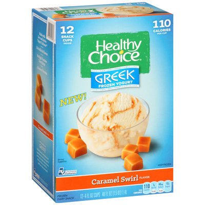 Healthy Choice® Greek Frozen Yogurt Caramel Swirl 12-4 fl. oz. Cups
