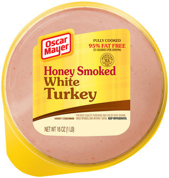 Oscar Mayer Honey Smoked White Turkey, 95% Fat Free, 16 oz. Pack
