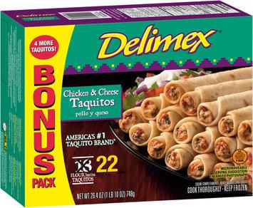 Delimex® Chicken & Cheese Taquitos 22 ct Box
