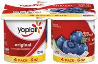 Yoplait® Original Mountain Blueberry Low Fat Yogurt 4-6 oz. Cups