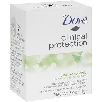 Dove® Clinical Protection Cool Essentials Cucumber & Green Tea Scent Anti-Perspirant Deodorant Solid 0.5 oz. Box
