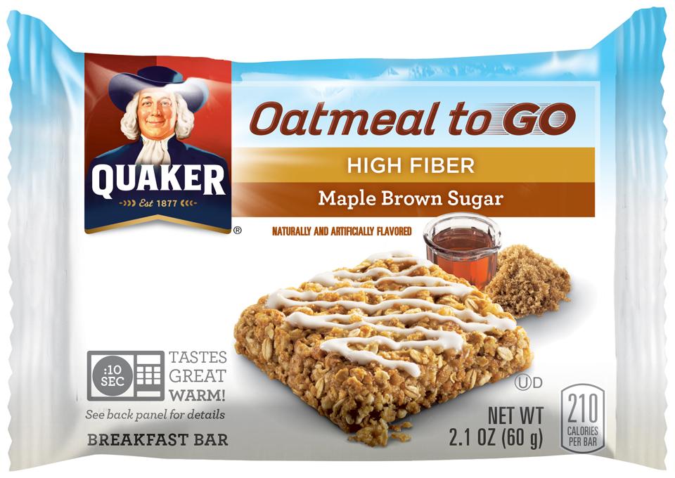 Quaker® Oatmeal To Go Maple Brown Sugar Breakfast Bar