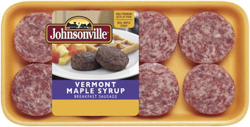 Johnsonville Vermont Maple Syrup Breakfast Patties 8ct 12oz tray (100966)