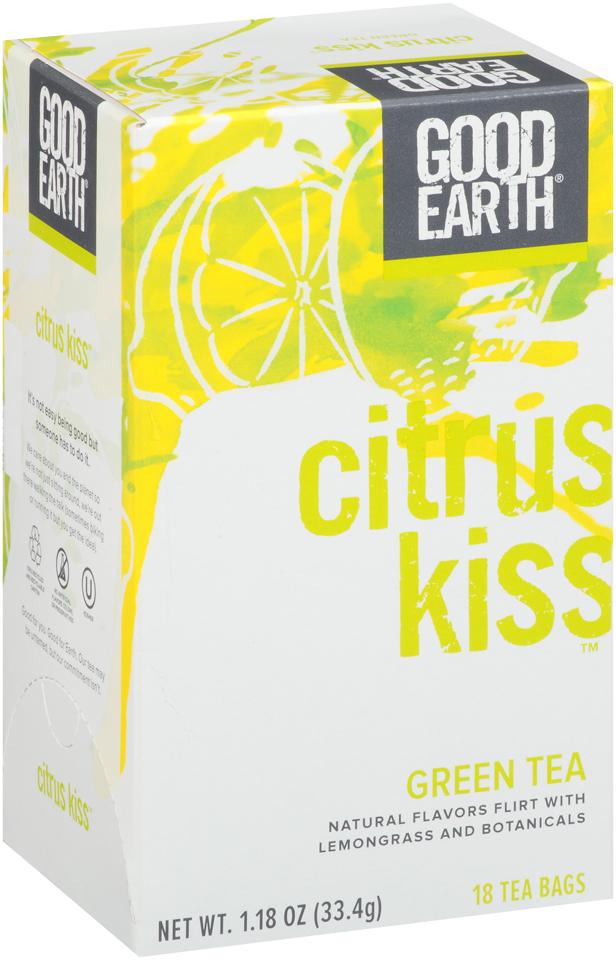Good Earth® Citrus Kiss™ Green Tea 18 ct Box