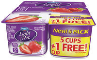 Light & Fit Nonfat Yogurt Strawberry 6 Oz 6 Ct