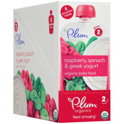 Plum Organics® Stage 2 Raspberry, Spinach & Greek Yogurt Organic Baby Food 6-3.5 oz. Pouches