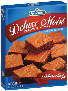 Springfield Deluxe Moist Fudge Brownie Mix 19.8 Oz Box