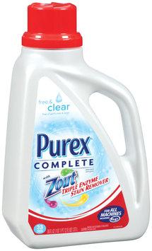 Purex Liquid Detergents Complete Free & Clear W/Zout Laundry Detergent 60 Oz Jug