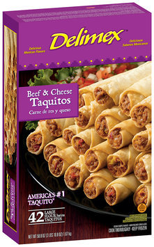 Delimex Beef & Cheese Large 42 Ct Taquitos Flour 58.8 Oz Box