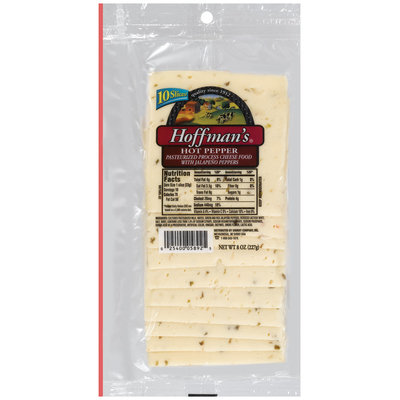 Hoffman's Hot Pepper Cheese Slices 10 Ct Peg