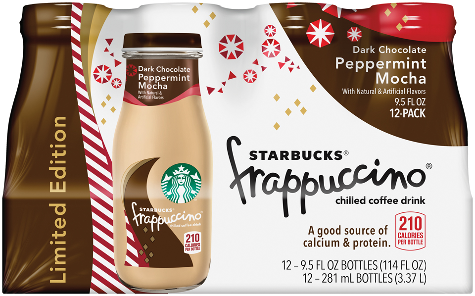 Starbucks® Dark Chocolate Peppermint Mocha Frappuccino® Coffee Drink 12 Pack 9.5 fl. oz. Glass Bottles