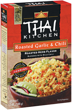 Thai Kitchen TK Roasted Garlic & Chili Jasmine Rice Jasmine Rices 7 Oz Box