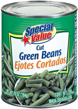 Special Value Cut Green Beans 28 Oz Can