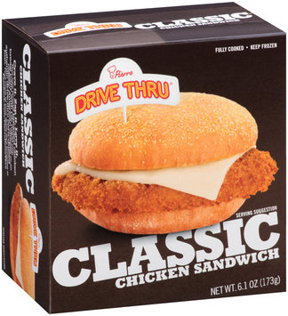 Pierre™ Drive Thru® Classic Chicken Sandwich 6.1 oz. Box