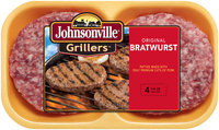 Johnsonville Grillers Original Brat Patties 16oz 4ct tray (100765)