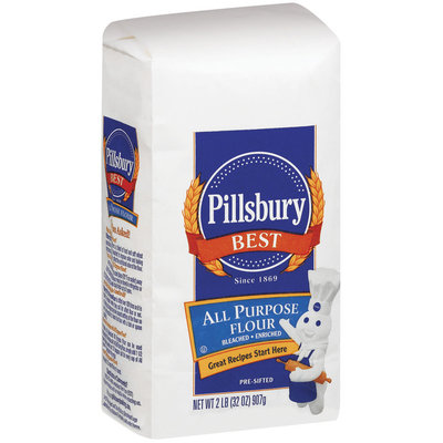 Pillsbury Best All Purpose Bleached Enriched Pre-Sifted Flour 2 Lb Bag