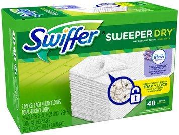 Swiffer Sweeper Dry Sweeping Pad Refills for Floor mop with Febreze Lavender Vanilla & Comfort Scent 48 Count
