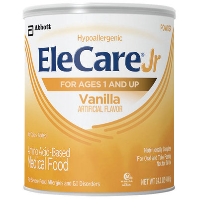 Elecare Jr Vanilla For Ages 1 and Up Medical Food 14.1 Oz