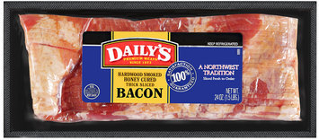 Daily's® Hardwood Smoked Honey Cured Thick Sliced Bacon 24 oz
