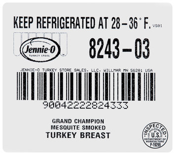 Jennie-O Turkey Store® Grand Champion® Mesquite Smoked Skinless Boneless Turkey Breast with Broth, 1 count Package
