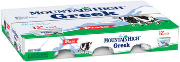 Mountain High™ Greek Plain Nonfat Yoghurt 12-5.3 oz. Cups