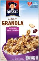 Quaker Natural Cereal Oats Honey & Raisins Granola 14 Oz Box