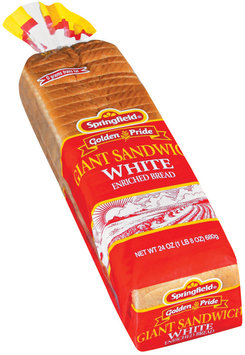 Springfield Giant Sandwich White Bread 24 Oz Bag