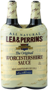 LEA & PERRINS The Original 20 Oz Worcestershire Sauce 2 PK GLASS BOTTLES