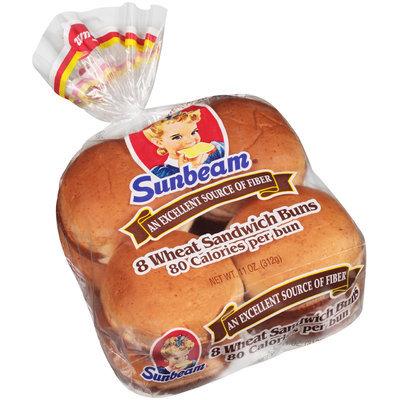 Sunbeam® Wheat Sandwich Buns 8 ct Bag