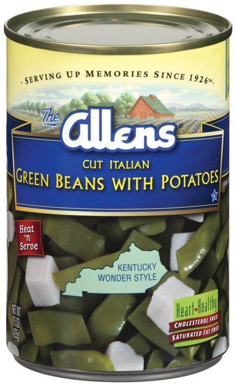 The Allens Cut Italian Green Beans W/Potatoes 15 Oz Can