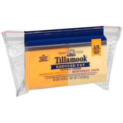 Tillamook® Reduced Fat Medium Cheddar/Monterey Jack Cheese Deli Slices 42 ct Pack